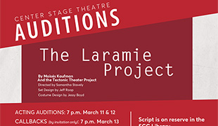 Image of Auditions for Center Stage Theatre's production of 'The Laramie Project'