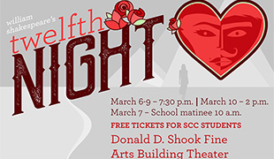 Image of 'Twelfth Night' – a Shakespeare play – hits the stage at SCC on March 6