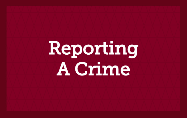 Reporting a Crime